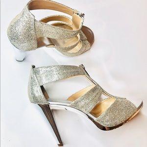 Michael Michael Kors Silver Berkley Heels